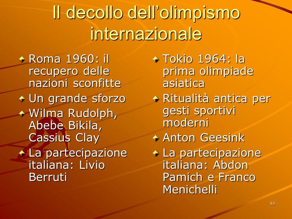 Il decollo dell'olimpismo internazionale