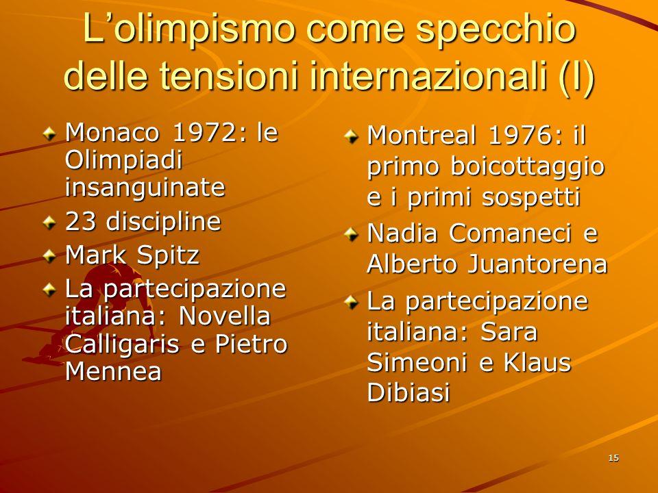 L'olimpismo come specchio delle tensioni internazionali (I)