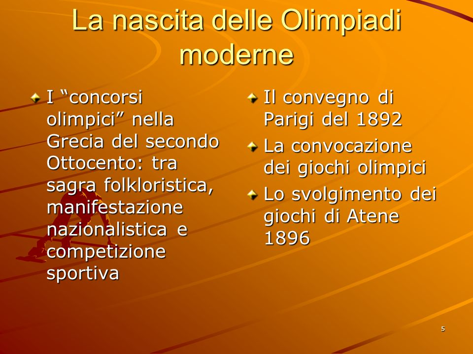 La nascita delle Olimpiadi moderne