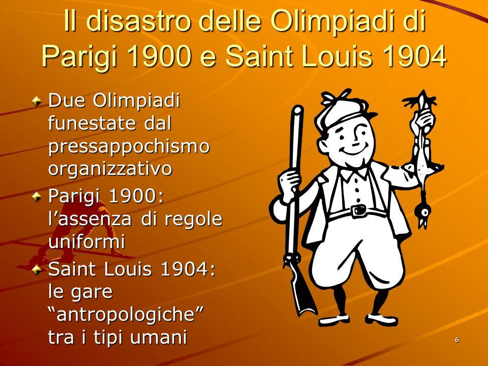 Il disastro delle Olimpiadi di Parigi 1900 e Saint Louis 1904