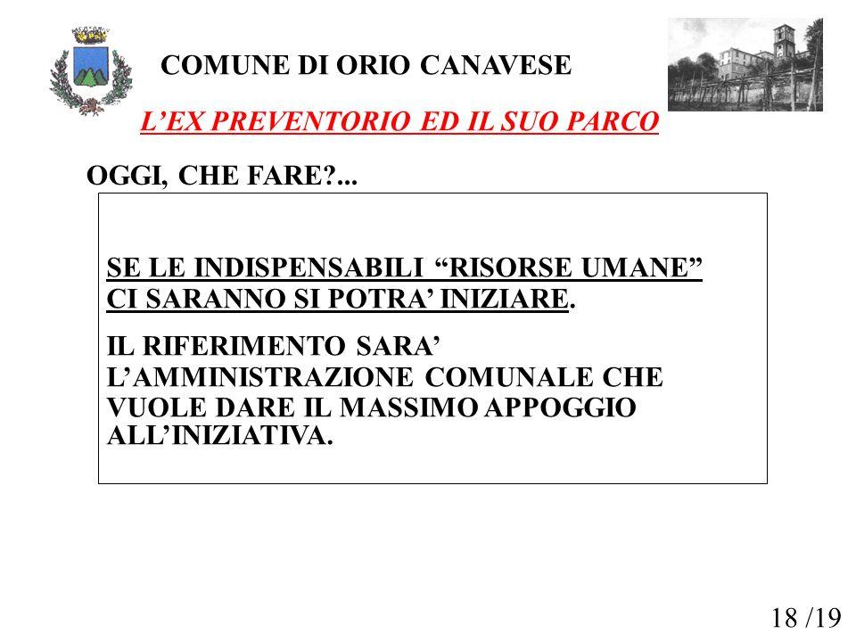 COMUNE DI ORIO CANAVESE