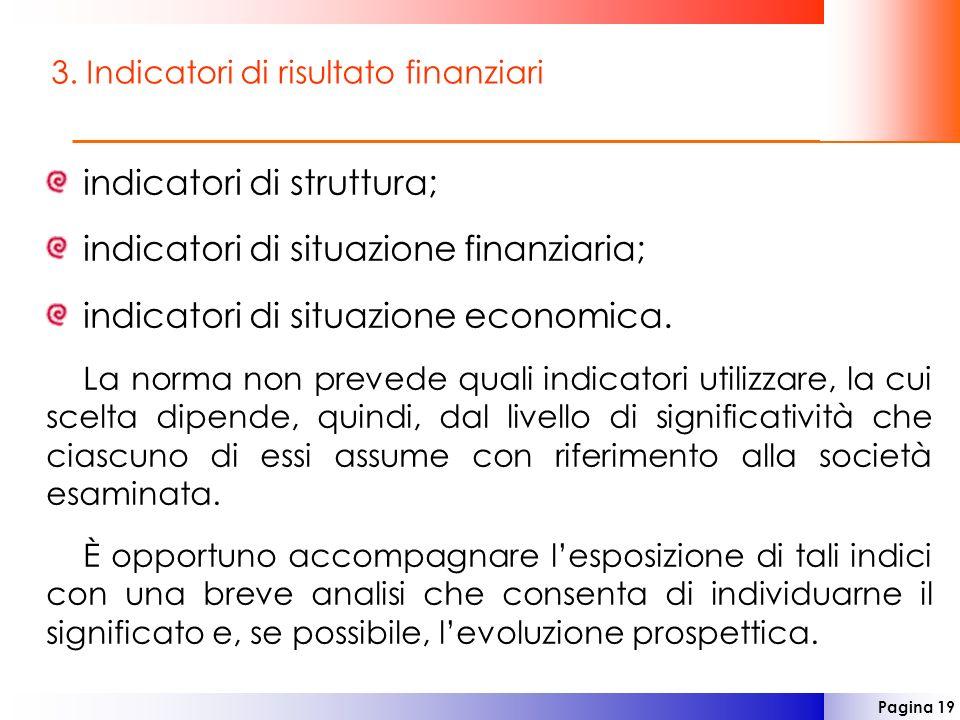 3. Indicatori di risultato finanziari