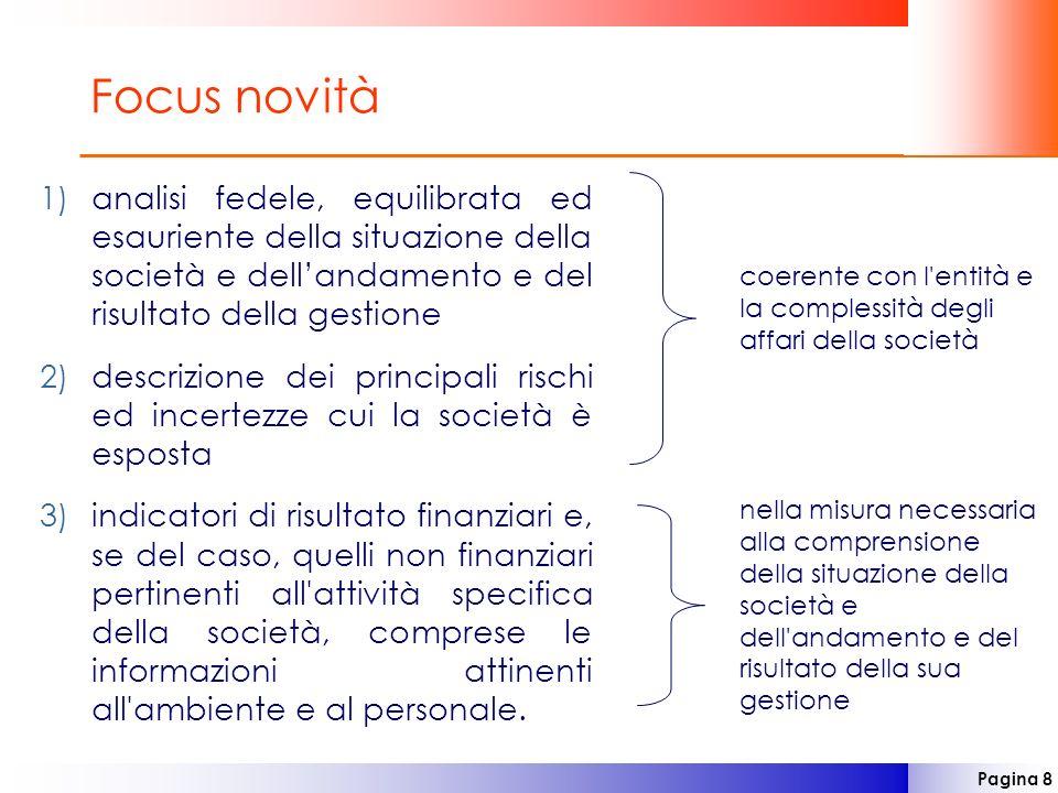 Focus novitàanalisi fedele, equilibrata ed esauriente della situazione della società e dell'andamento e del risultato della gestione.