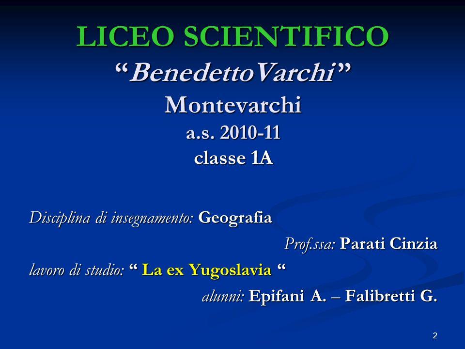 LICEO SCIENTIFICO BenedettoVarchi Montevarchi a. s