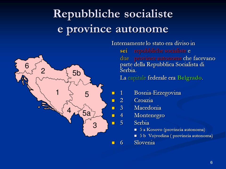 Repubbliche socialiste e province autonome