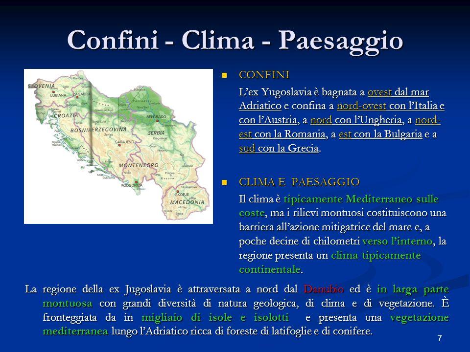 Confini - Clima - Paesaggio
