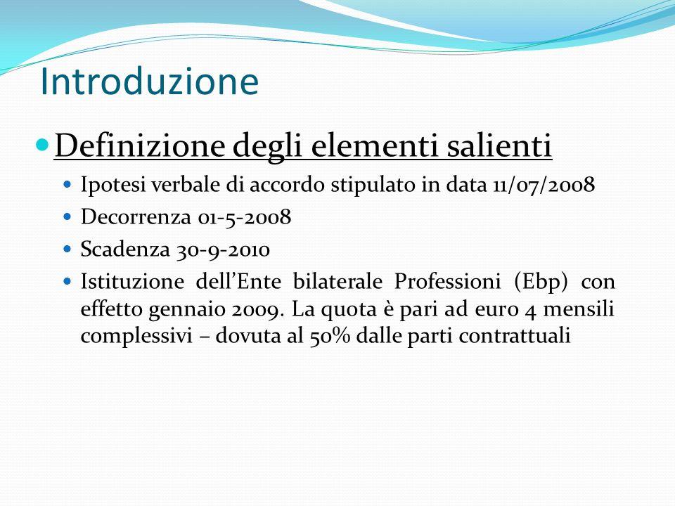 Introduzione Definizione degli elementi salienti