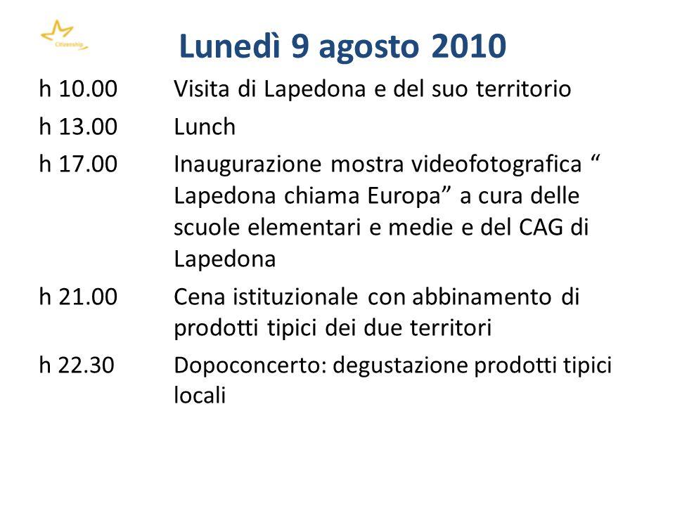Lunedì 9 agosto 2010 h 10.00 Visita di Lapedona e del suo territorio