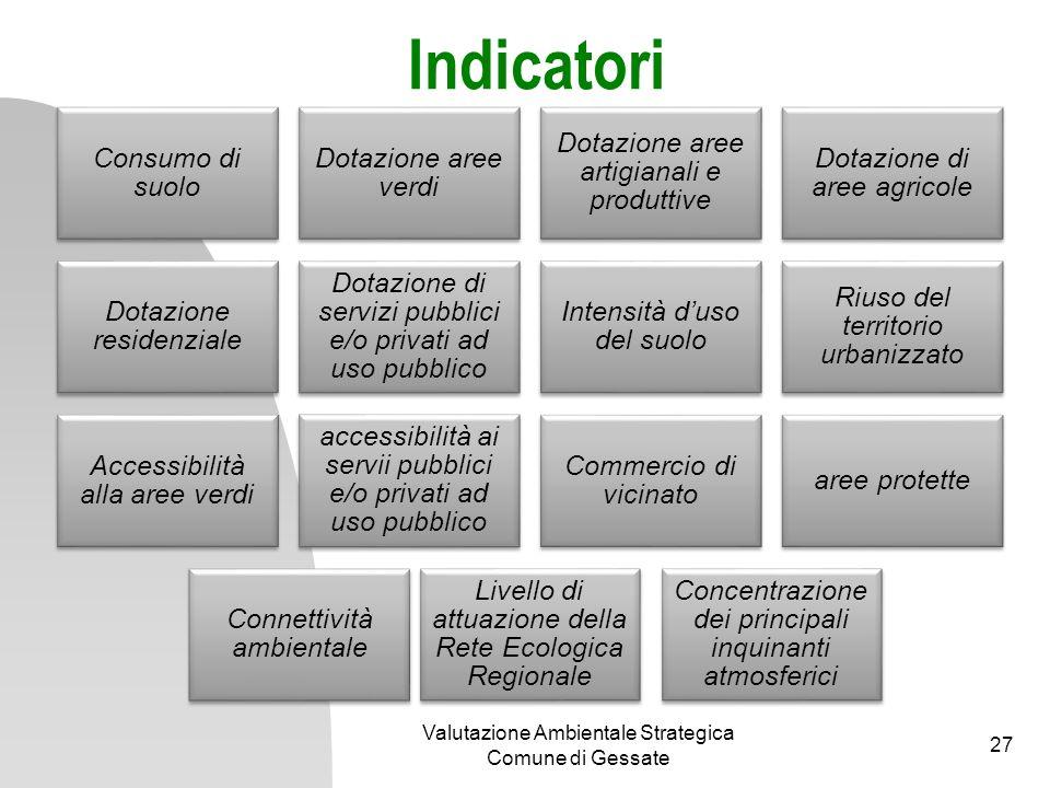 Indicatori Valutazione Ambientale Strategica Comune di Gessate
