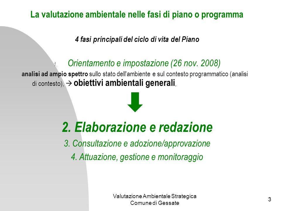 La valutazione ambientale nelle fasi di piano o programma