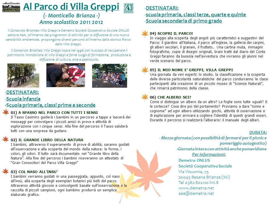 Al Parco di Villa Greppi (- Monticello Brianza -)