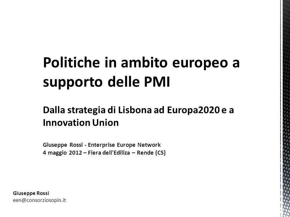 Politiche in ambito europeo a supporto delle PMI