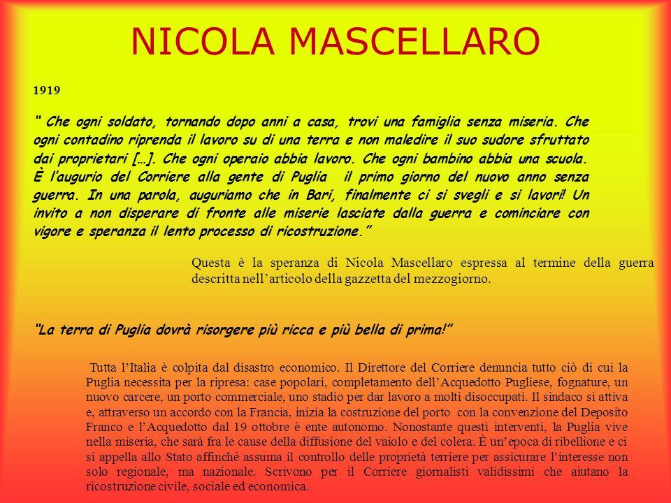 NICOLA MASCELLARO 1919.