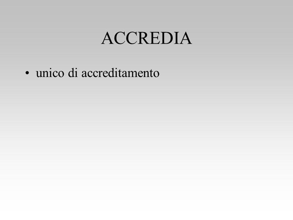 ACCREDIA unico di accreditamento
