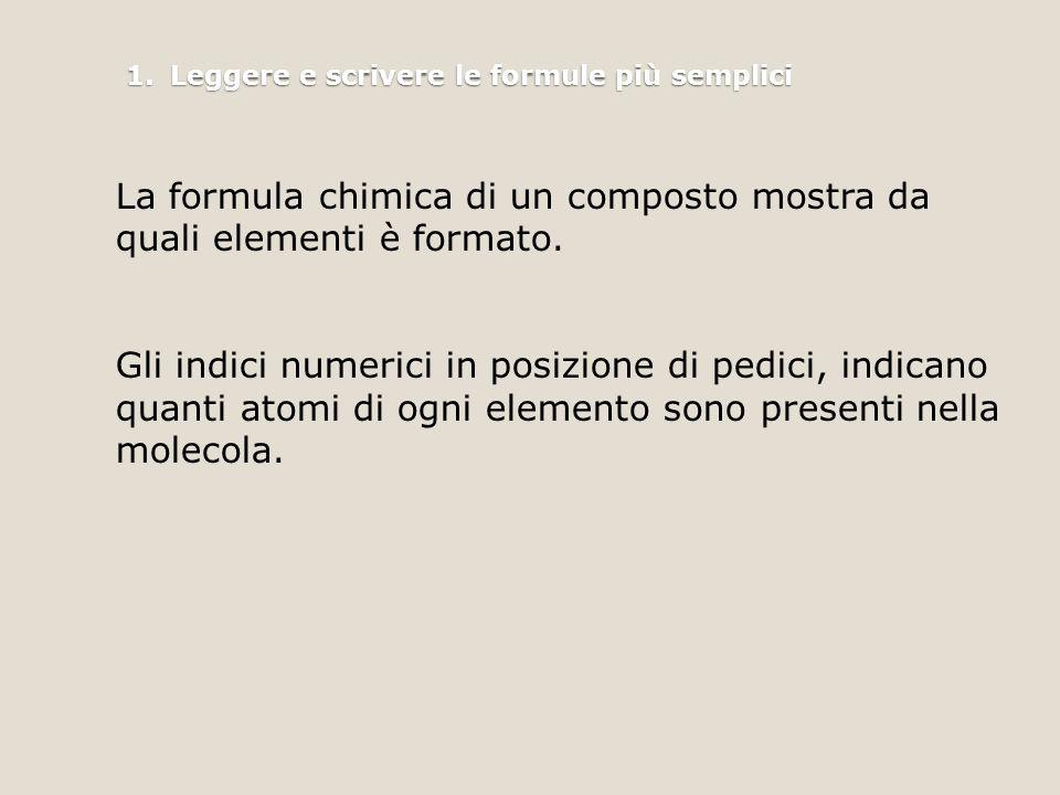 1. Leggere e scrivere le formule più semplici