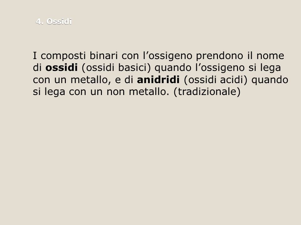 4. Ossidi