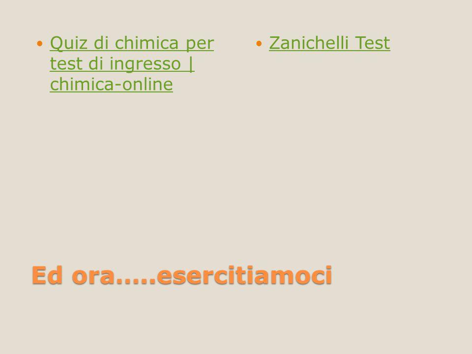 Quiz di chimica per test di ingresso | chimica-online