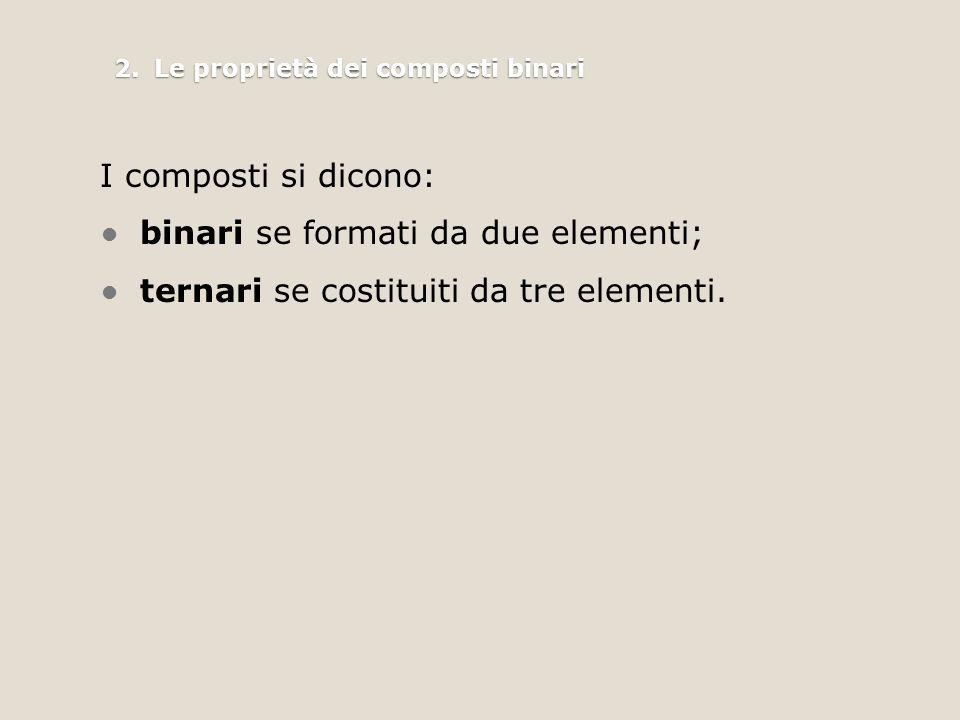 2. Le proprietà dei composti binari