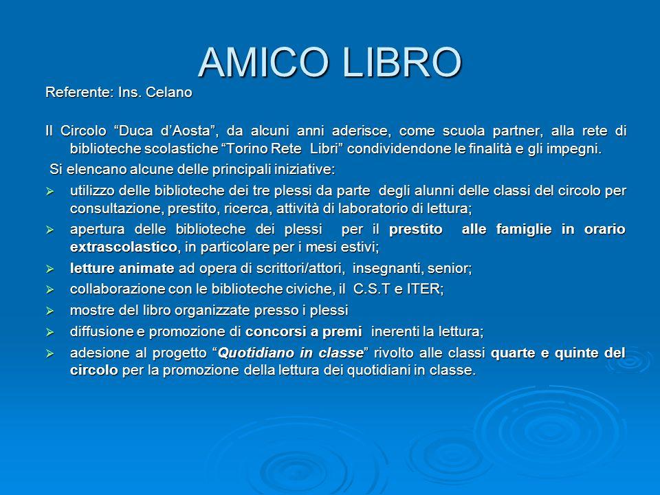 AMICO LIBRO Referente: Ins. Celano