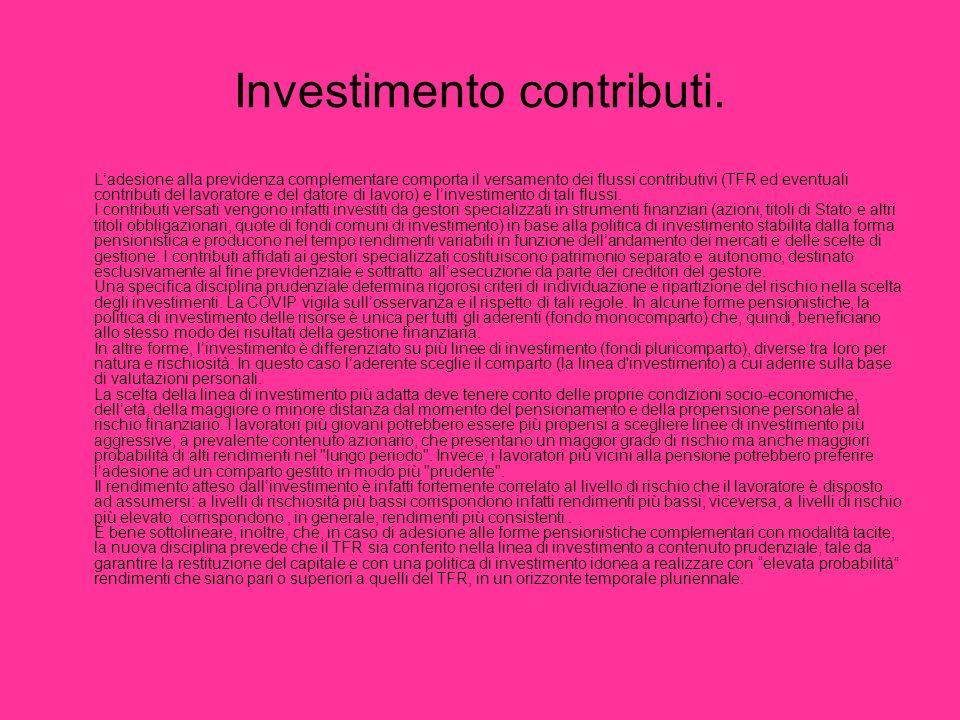 Investimento contributi.