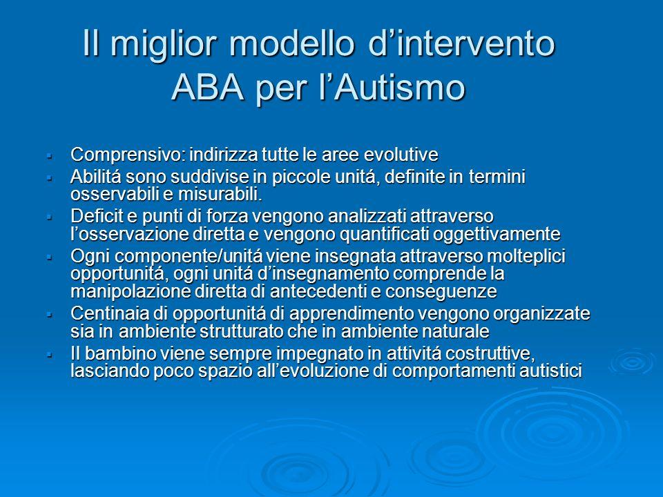 Il miglior modello d'intervento ABA per l'Autismo