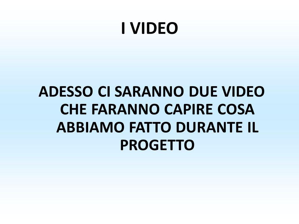 I VIDEO ADESSO CI SARANNO DUE VIDEO CHE FARANNO CAPIRE COSA ABBIAMO FATTO DURANTE IL PROGETTO