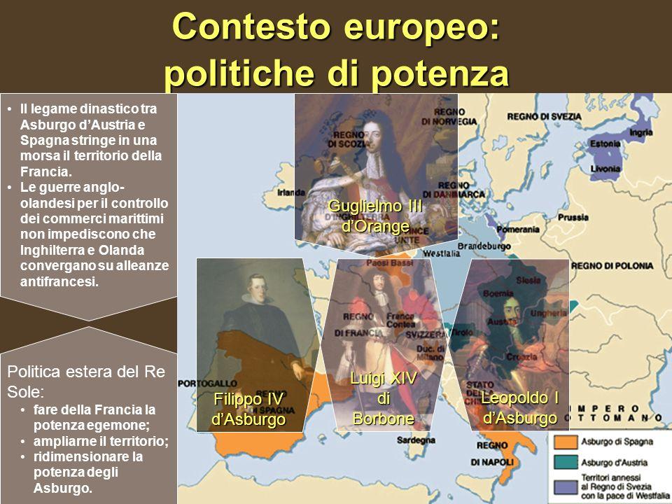 Contesto europeo: politiche di potenza