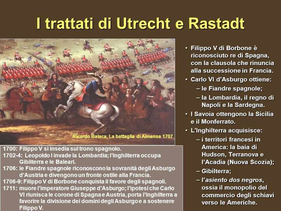 I trattati di Utrecht e Rastadt