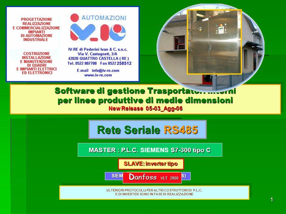 Software di gestione Trasportatori interni per linee produttive di medie dimensioni New Release 05-03_Agg-06