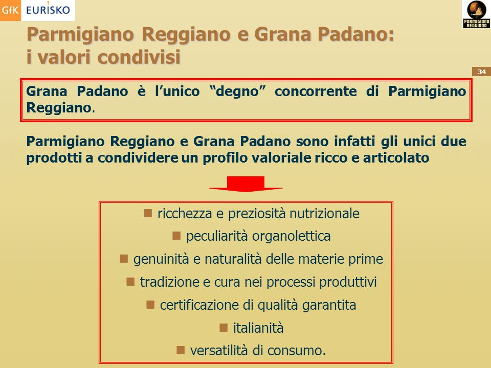 Parmigiano Reggiano e Grana Padano: i valori condivisi