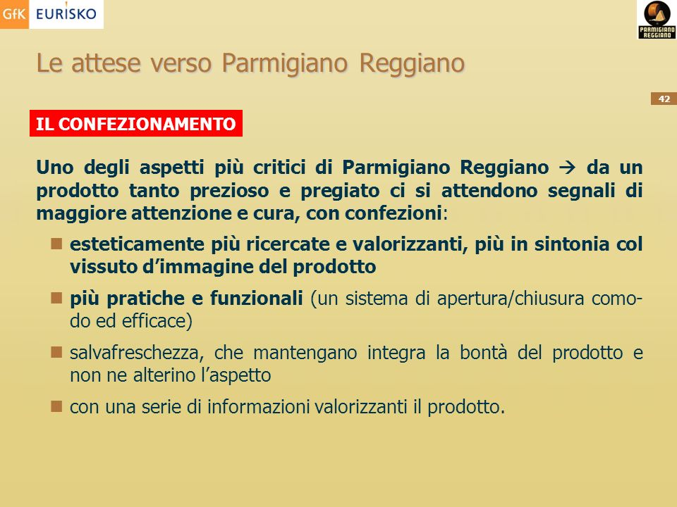 Le attese verso Parmigiano Reggiano