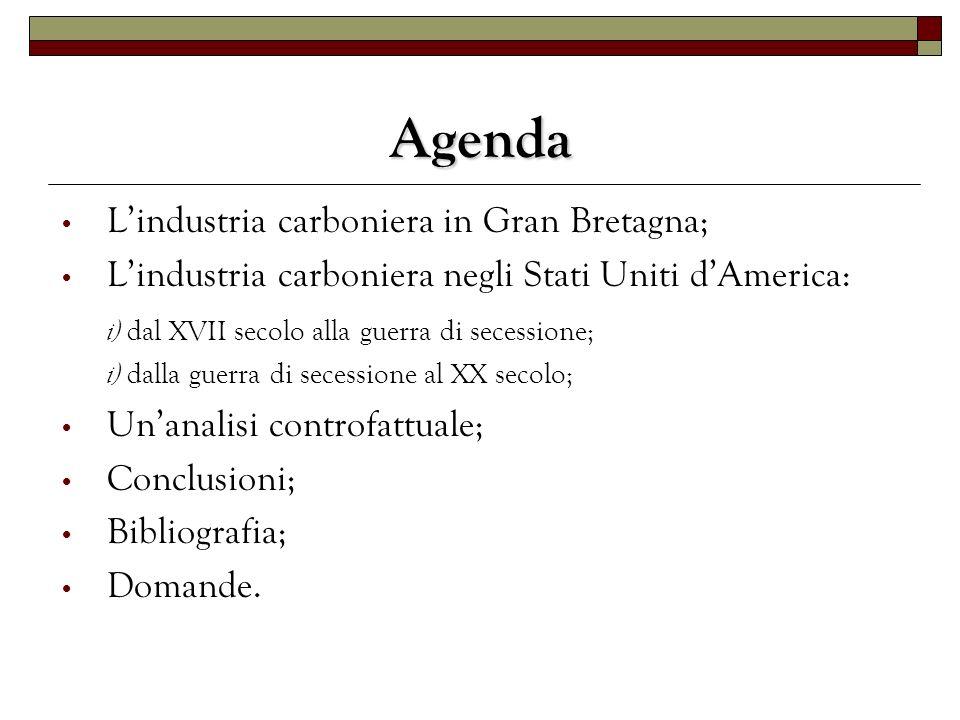 Agenda L'industria carboniera in Gran Bretagna;