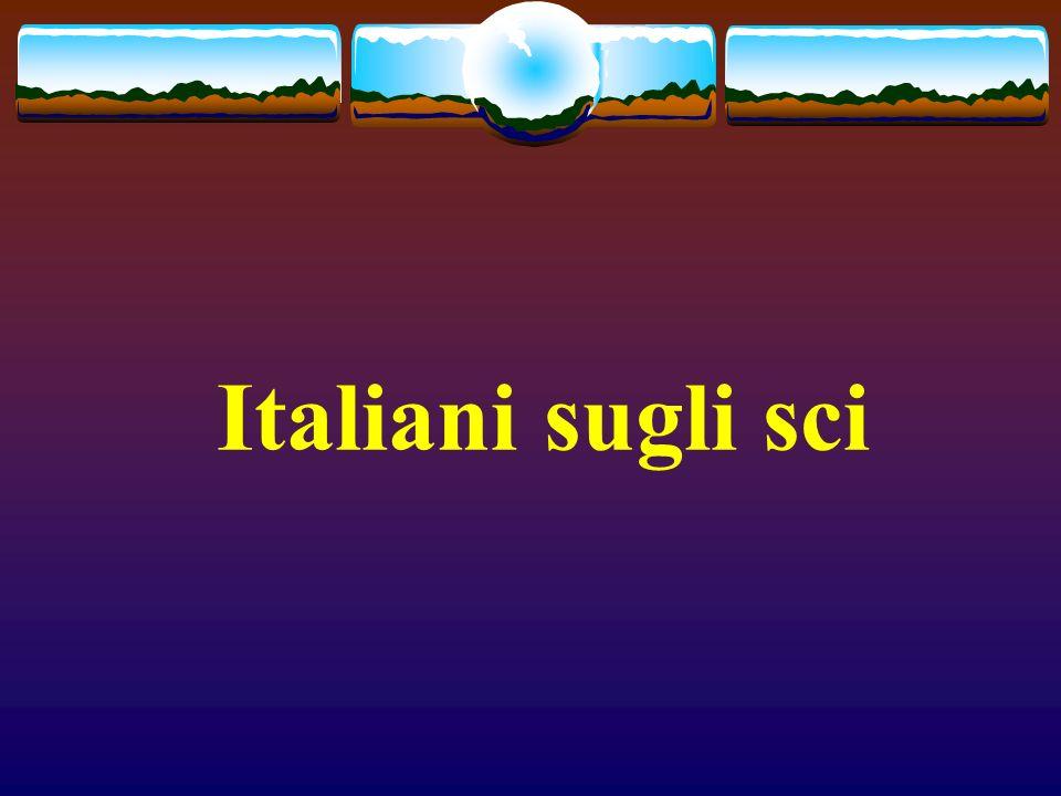Italiani sugli sci