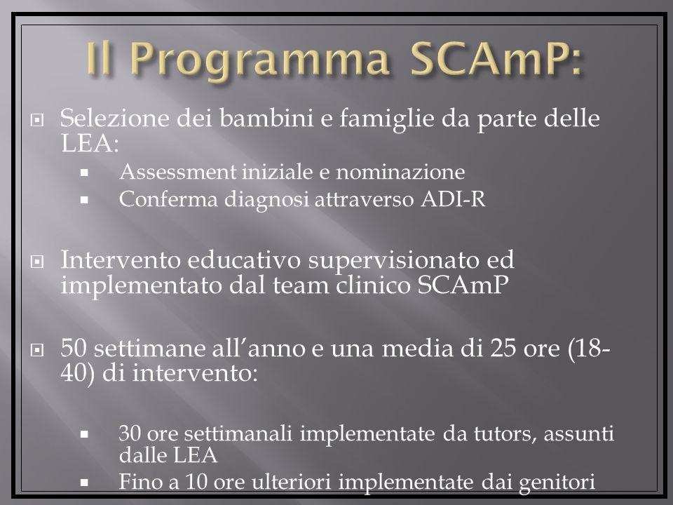 Il Programma SCAmP: Selezione dei bambini e famiglie da parte delle LEA: Assessment iniziale e nominazione.