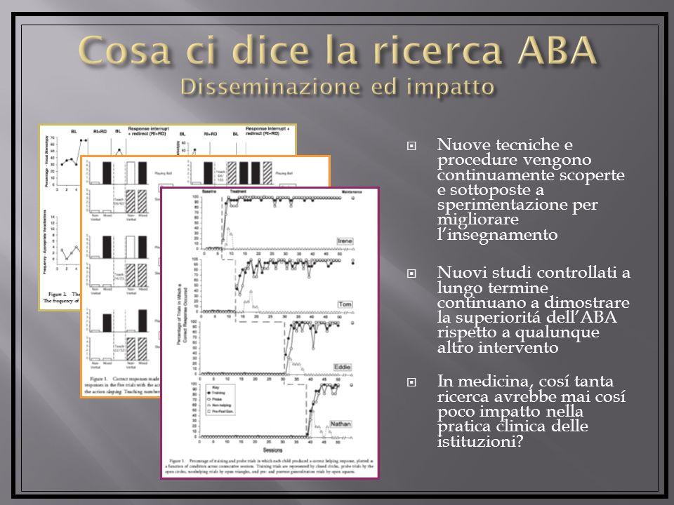 Cosa ci dice la ricerca ABA Disseminazione ed impatto