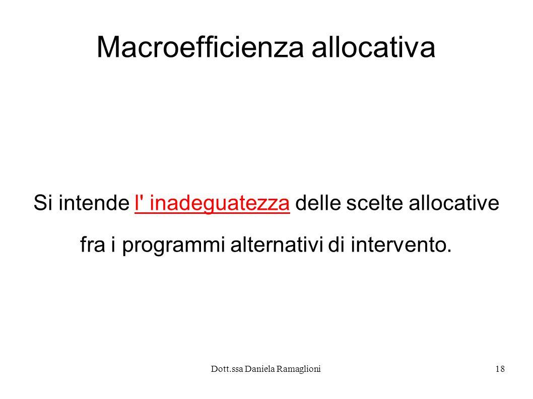 Macroefficienza allocativa