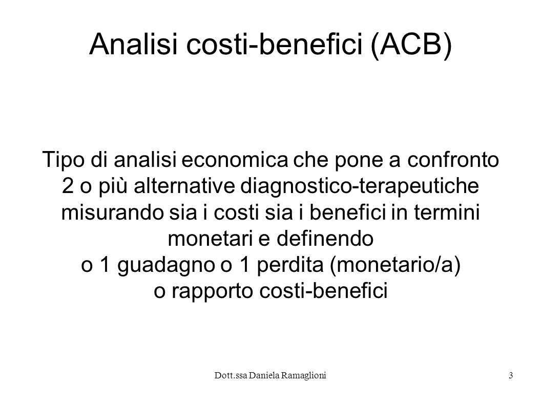 Analisi costi-benefici (ACB)