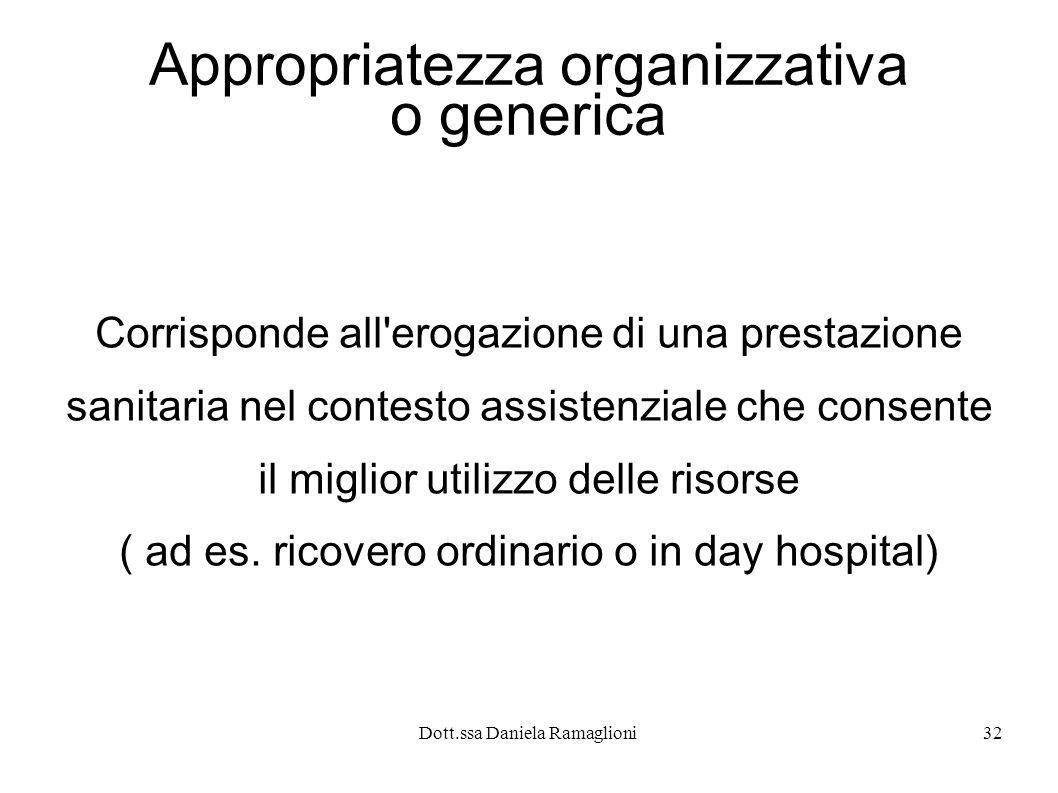 Appropriatezza organizzativa o generica