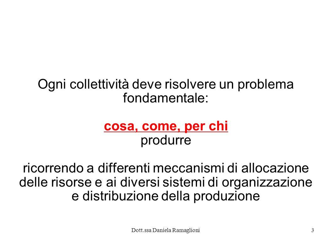 Ogni collettività deve risolvere un problema fondamentale: