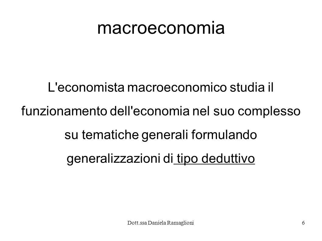 macroeconomia L economista macroeconomico studia il