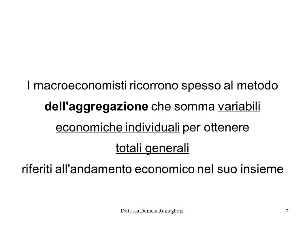 I macroeconomisti ricorrono spesso al metodo