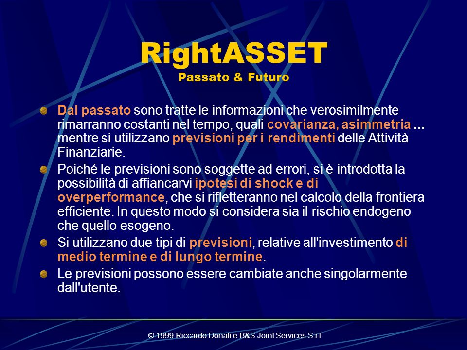 RightASSET Passato & Futuro