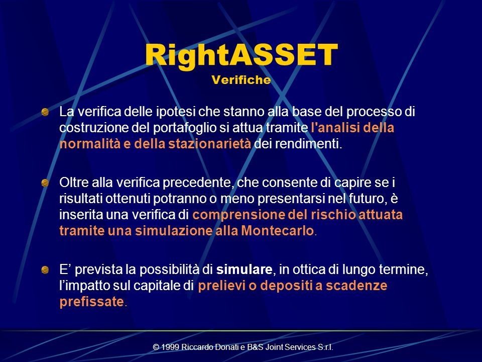 RightASSET Verifiche