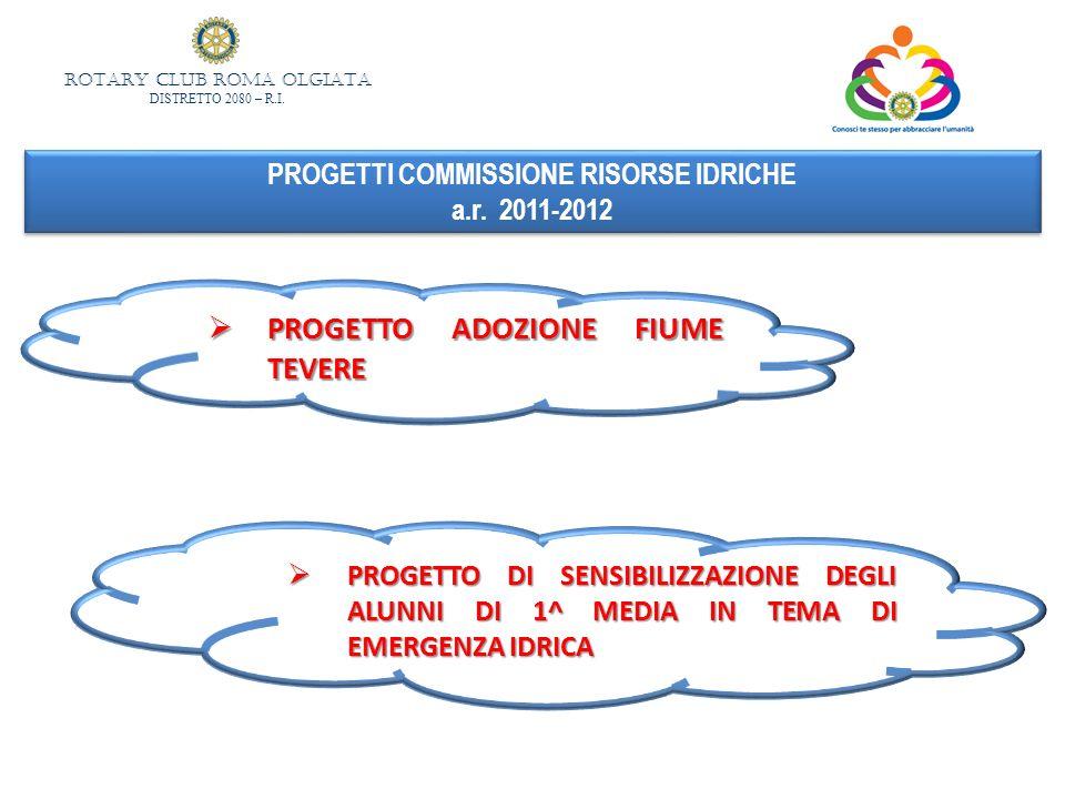 PROGETTI COMMISSIONE RISORSE IDRICHE