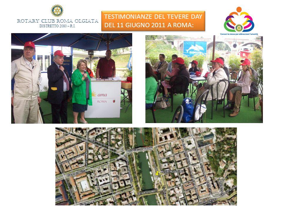 TESTIMONIANZE DEL TEVERE DAY DEL 11 GIUGNO 2011 A ROMA: