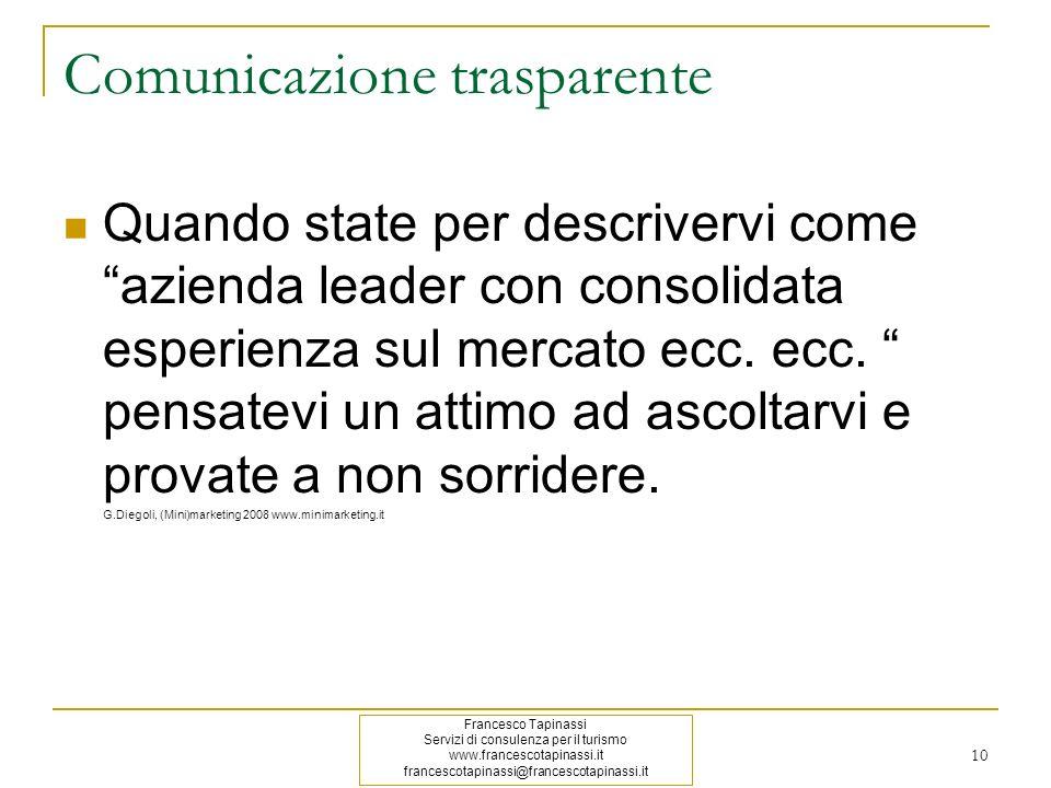 Comunicazione trasparente