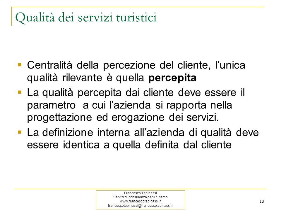 Qualità dei servizi turistici