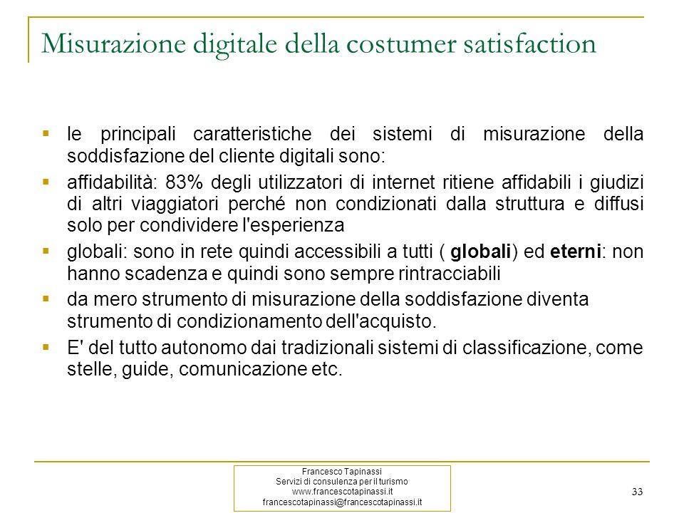 Misurazione digitale della costumer satisfaction