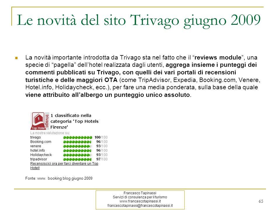 Le novità del sito Trivago giugno 2009