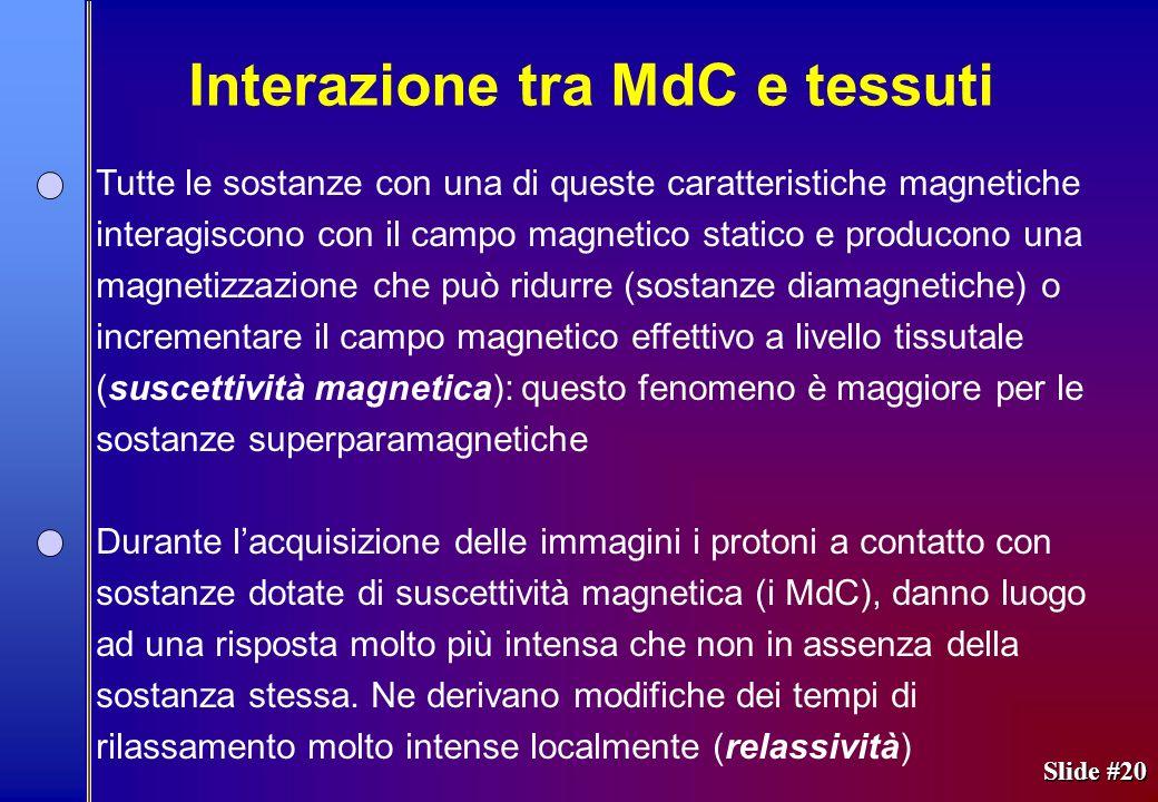 Interazione tra MdC e tessuti